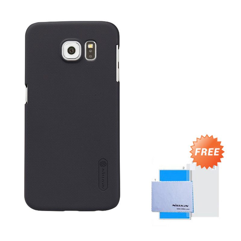 Nillkin Frosted Shield Black Hardcase Casing for Samsung Galaxy S6 + Screen Guard