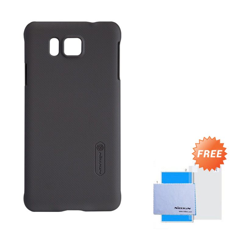 Nillkin Frosted Shield Brown Hardcase Casing for Samsung Galaxy Alpha + Screen Guard