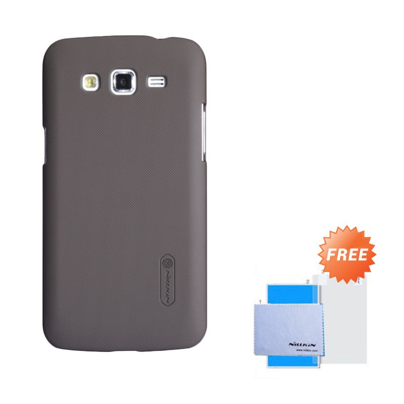 Nillkin Frosted Shield Brown Hardcase Casing for Samsung Galaxy Grand 2 + Screen Guard
