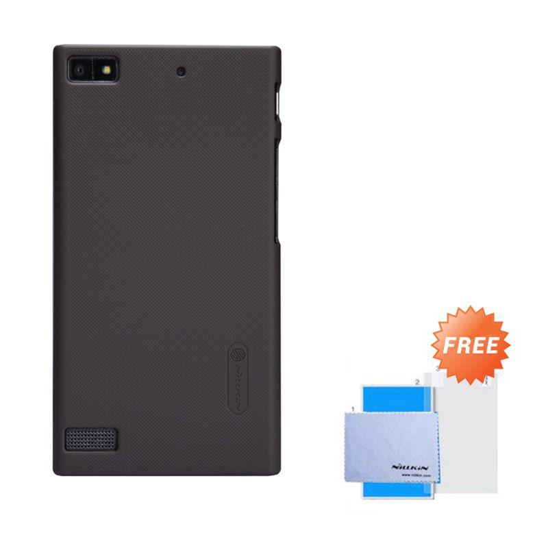 Nillkin Frosted Shield Cokelat Hardcase Casing for Blackberry Z3 + Screen Guard