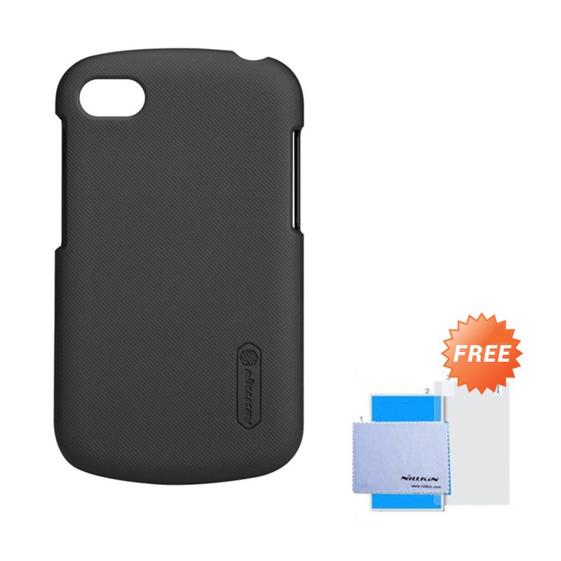 Nillkin Frosted Shield Hitam Hardcase Casing for Blackberry Q10 + Screen Guard