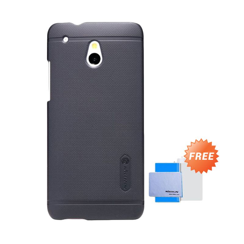 Nillkin Frosted Shield Hitam Casing for HTC One Mini M4 601E + Screen Guard