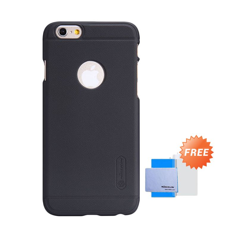 Nillkin Frosted Shield Hitam Casing for iPhone 6 [4.7 Inch] + Screen Guard