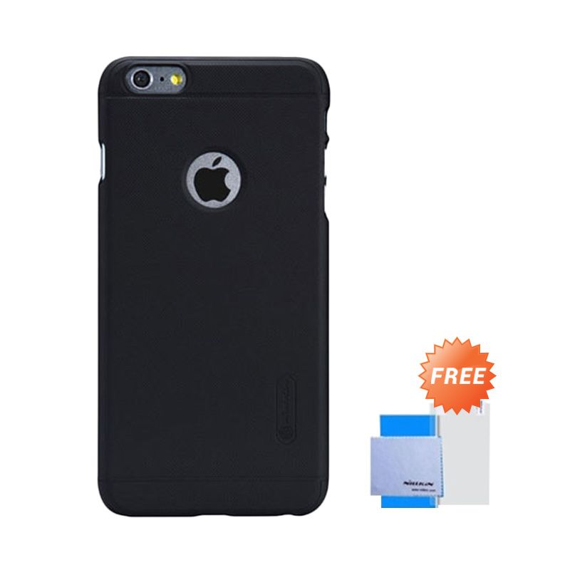Nillkin Frosted Shield Hitam Casing for iPhone 6 Plus [5.5] + Screen Guard