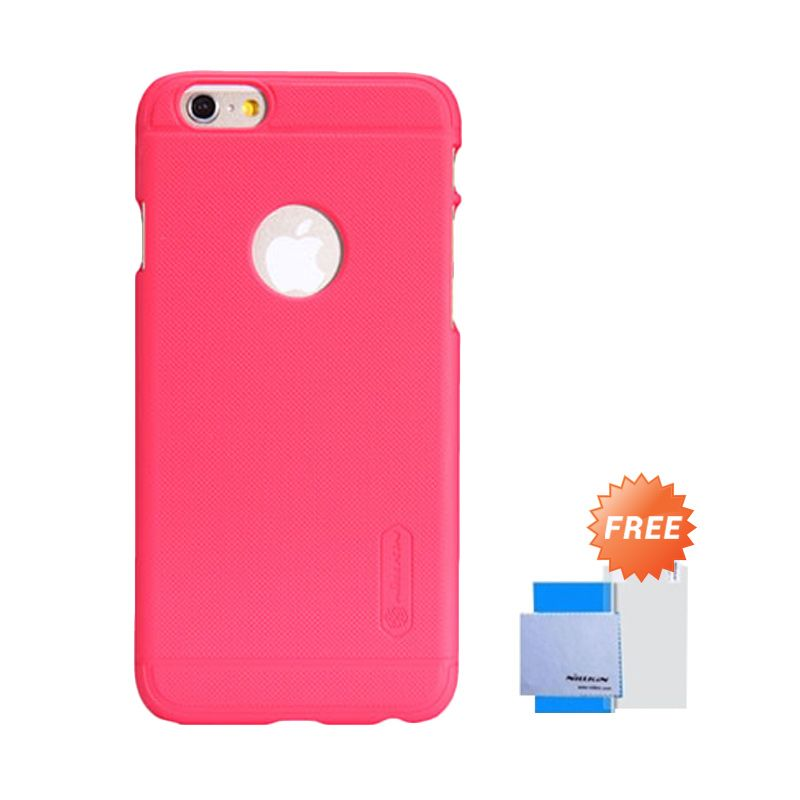 Nillkin Frosted Shield Merah Casing for iPhone 6 [4.7 Inch] + Screen Guard