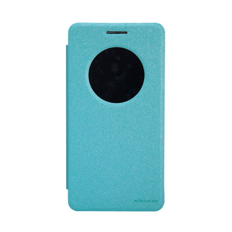Nillkin Sparkle Leather Biru Flip Cover Casing for Asus Zenfone 6