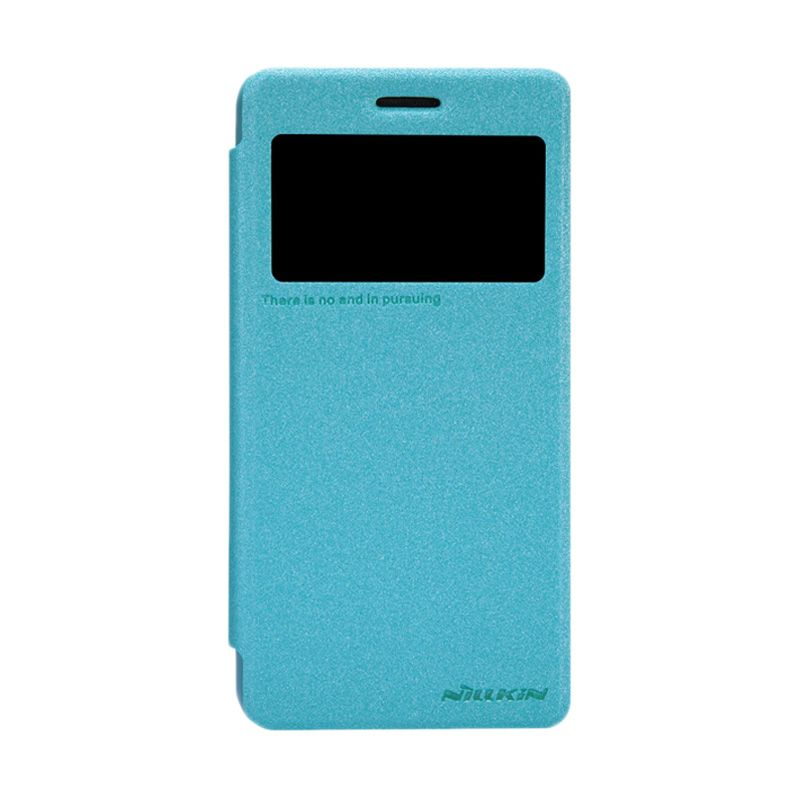 Nillkin Sparkle Leather Biru Flip Cover Casing for Lenovo S660