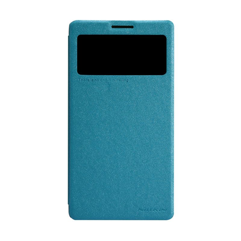 Nillkin Sparkle Leather Biru Flip Cover Casing for Lenovo Vibe Z