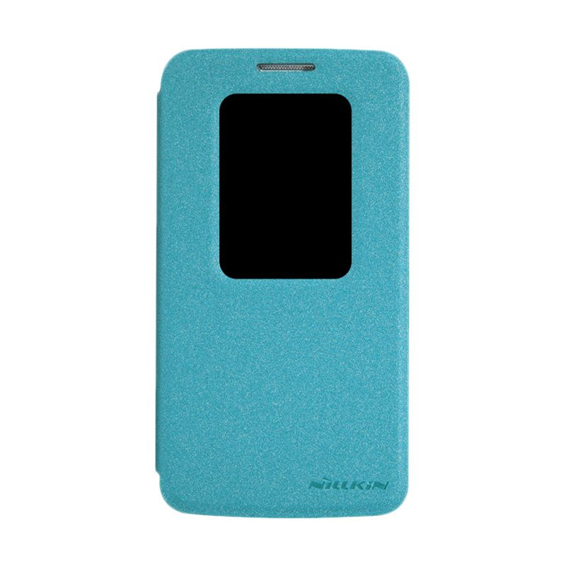 Nillkin Sparkle Leather Biru Flip Cover Casing for LG G2 Mini