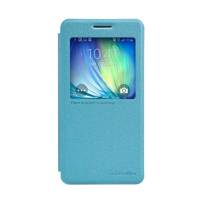 Nillkin Sparkle Leather Biru Flip Cover Casing for Samsung Galaxy A5