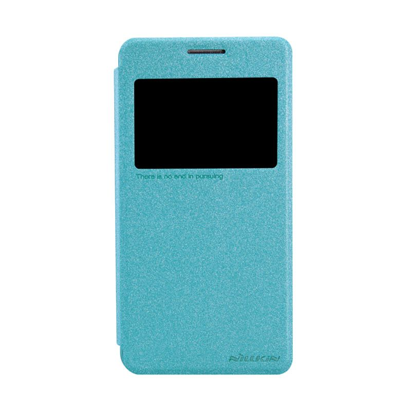 Nillkin Sparkle Leather Biru Flip Cover Casing for Samsung Galaxy Grand Prime