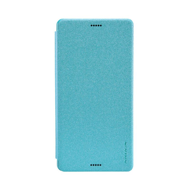 Nillkin Sparkle Leather Biru Flip Cover Casing for Sony Xperia Z3