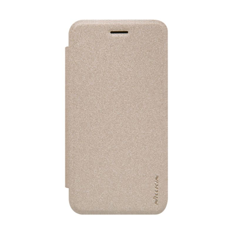Nillkin Sparkle Leather Flip Cover Gold Casing for Asus Padfone S (PF500KL)