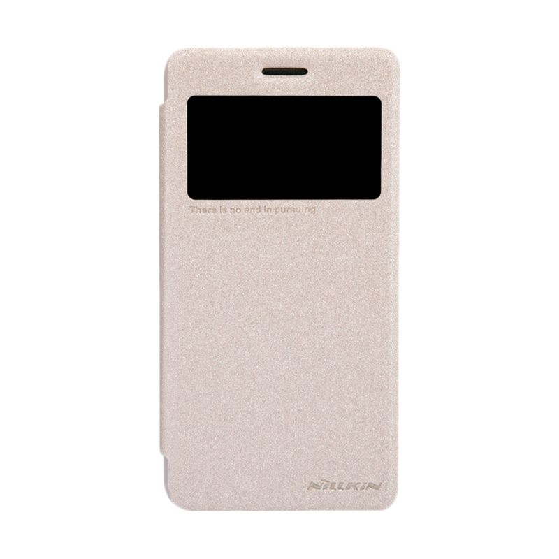 Nillkin Sparkle Leather Gold Flip Cover Casing for Lenovo S660