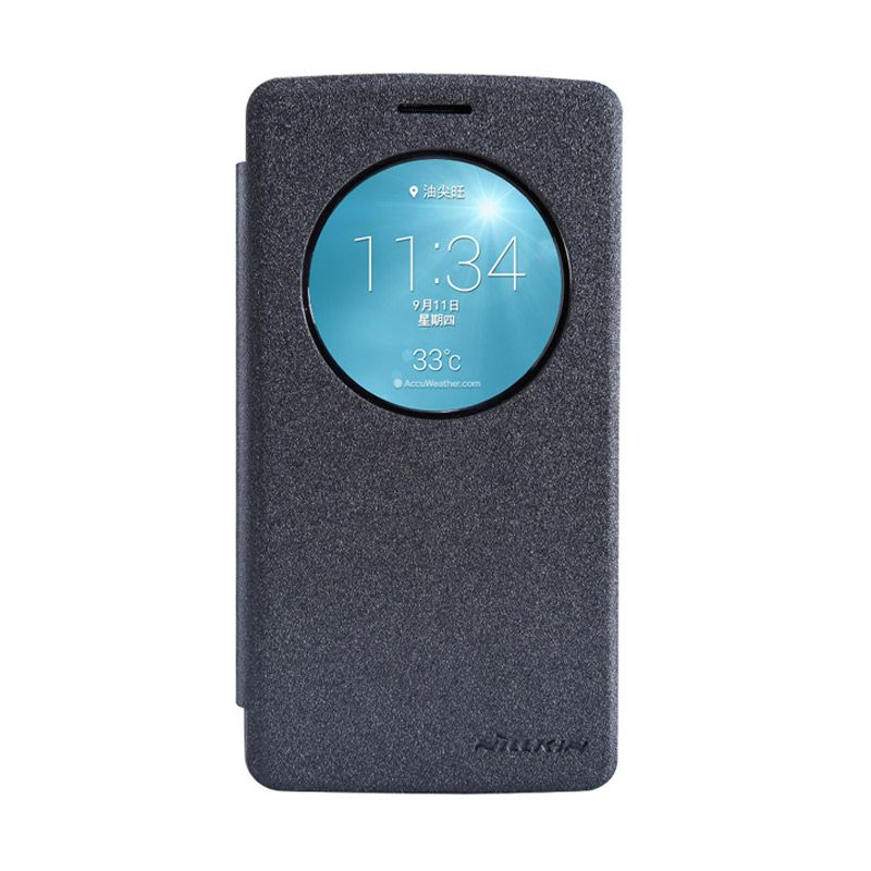 Nillkin Sparkle Leather Hitam Flip Cover Casing for LG G3 Beat
