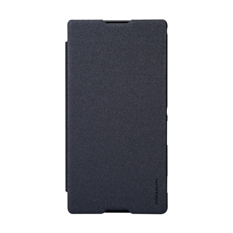 Nillkin Sparkle Leather Hitam Flip Cover Casing for Sony Xperia T2 Ultra