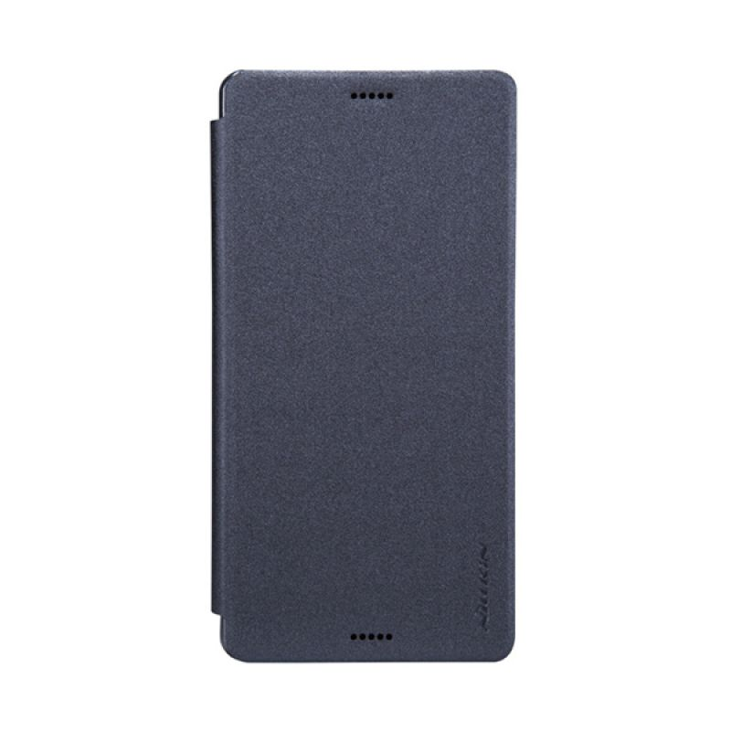 Nillkin Sparkle Leather Hitam Flip Cover Casing for Sony Xperia Z3