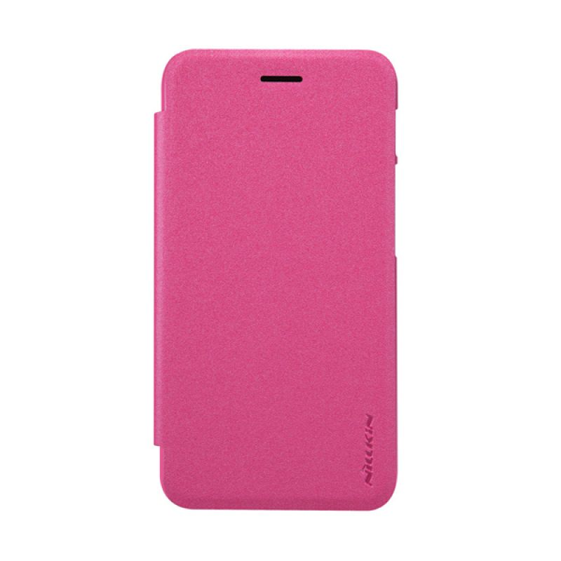 Nillkin Sparkle Leather Flip Cover Pink Casing for Asus Padfone S (PF500KL)