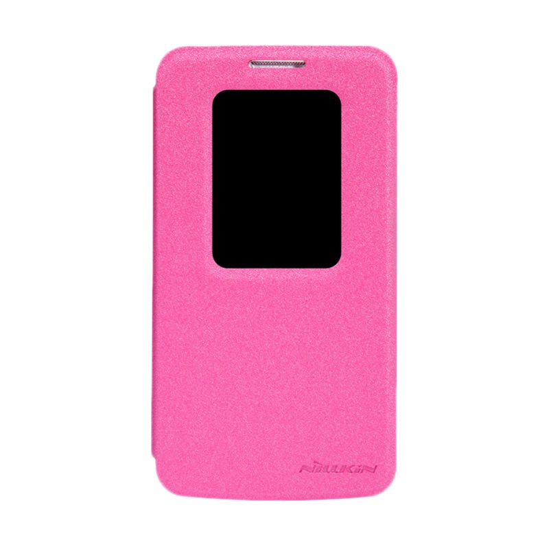 Nillkin Sparkle Leather Pink Flip Cover Casing for LG G2 Mini