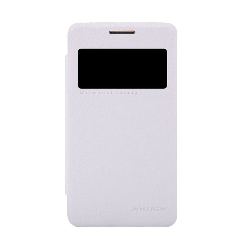 Nillkin Sparkle Leather Putih Flip Cover Casing for Samsung Galaxy Core 2