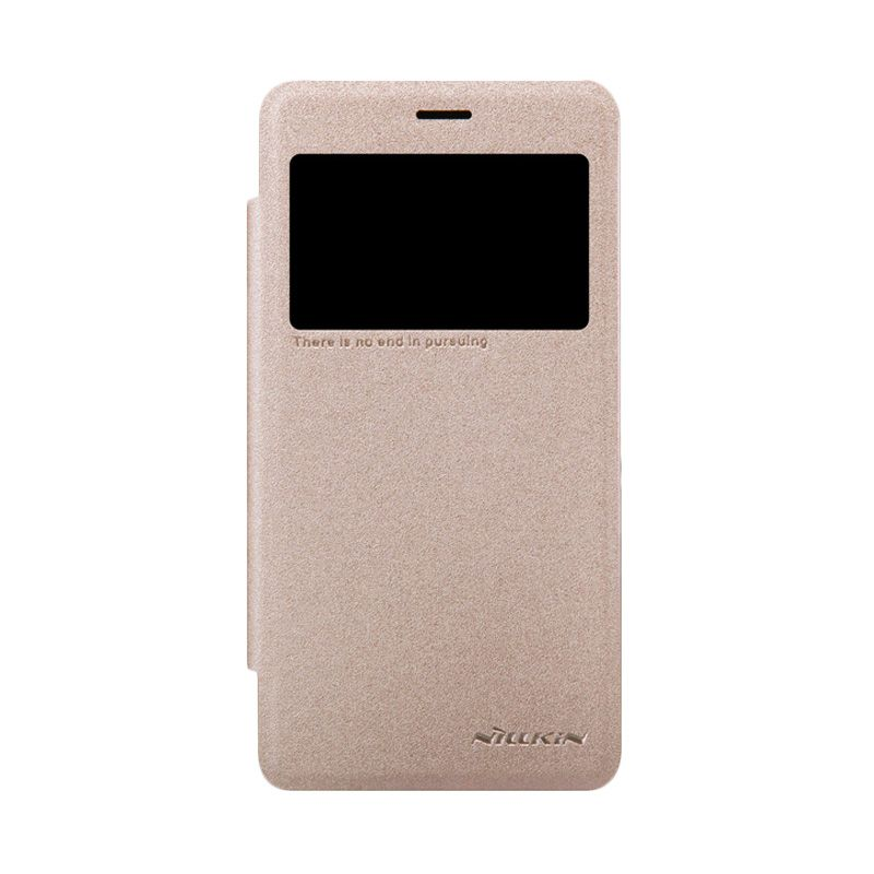 Nillkin Sparkle Leather Gold Casing for Xiaomi Redmi 2