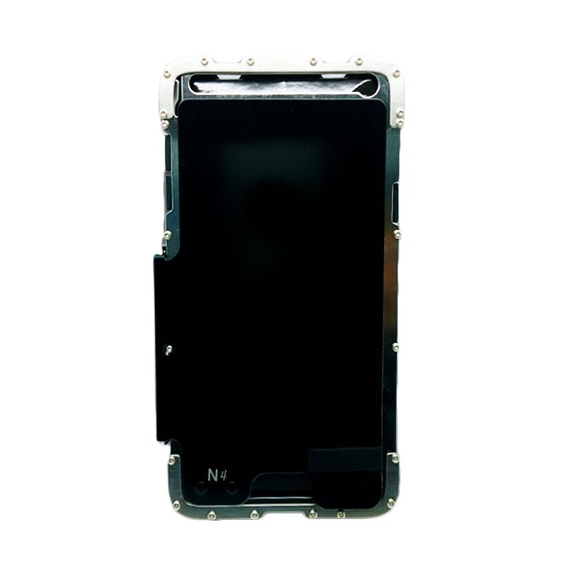 R-Just Armor King Bumper Hitam Silver Casing for Samsung Galaxy Note 4