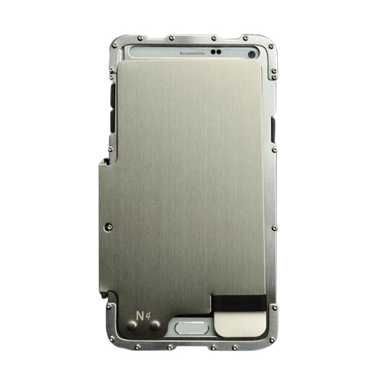 R-Just Armor King Bumper Silver Casing for Samsung Galaxy Note 4