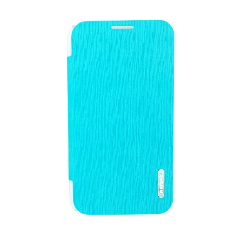 Remax Youth Leather Biru Flip Cover Casing for Samsung Galaxy Note 2 N7100