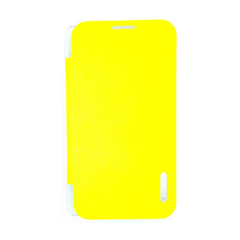 Remax Youth Leather Kuning Flip Cover Casing for Samsung Galaxy Note 2 N7100