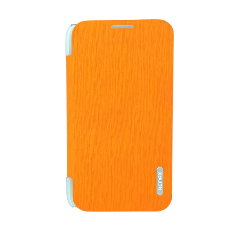 Remax Youth Leather Orange Flip Cover Casing for Samsung Galaxy Note 2 N7100