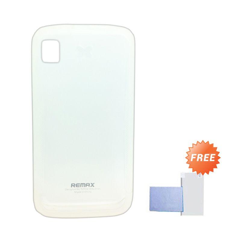 Remax Pudding Soft Case Putih Casing for Lenovo S560 + Screen Guard