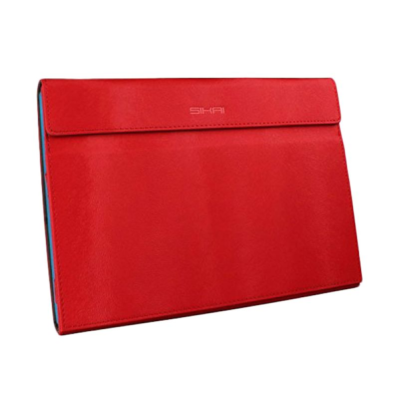 Sikai Leather Merah Flip Cover Casing for Microsoft Surface Pro 3 [12 Inch]