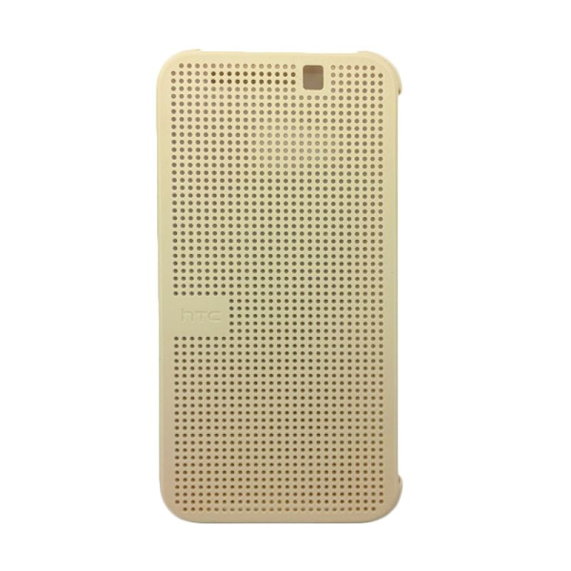 Sikai Smart Dot View Silicone Cokelat Flipcase Casing for HTC ONE M9