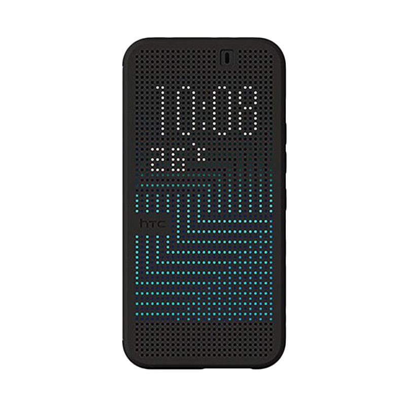 Sikai Smart Dot View Silicone Hitam Flipcase Casing for HTC ONE M9