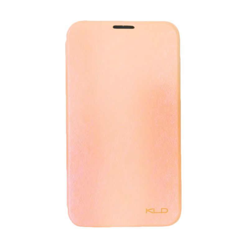 Kalaideng Enland Leather Flip Cover Peach Casing for Samsung Galaxy Note 2