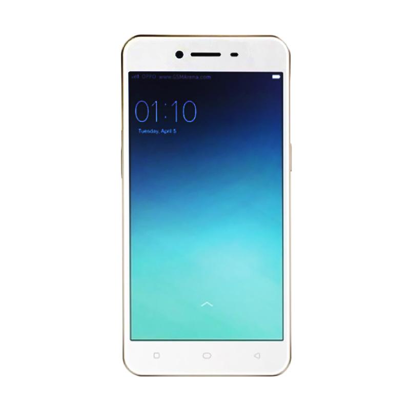 Oppo A37 Neo 9 Smartphone - Gold [16GB/ 2GB] + Softcase original