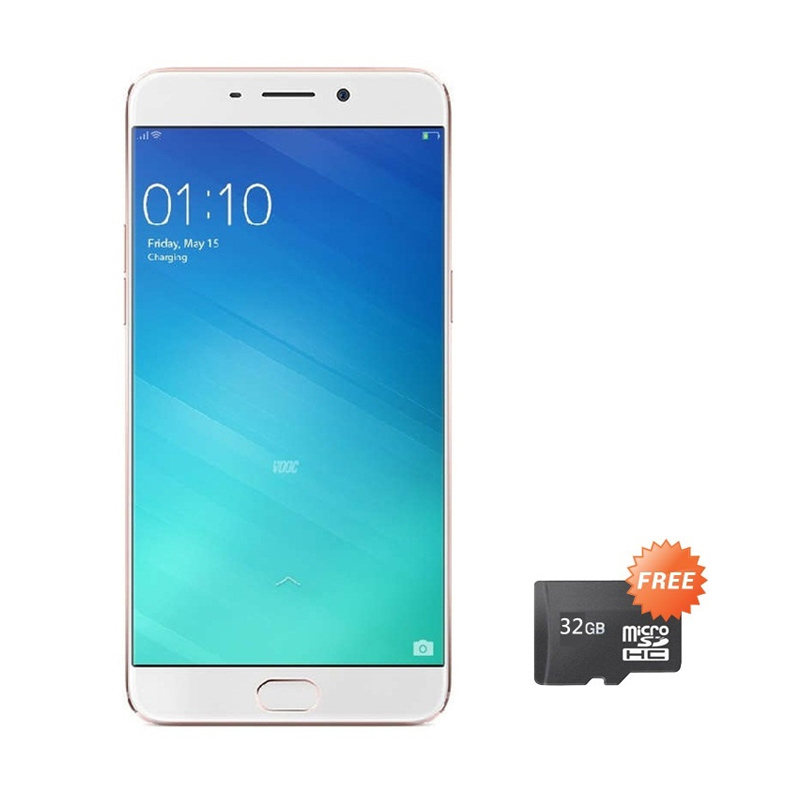 Oppo F1 Plus Selfie Expert Smartphone - Gold [16MP/RAM 4GB/64GB/Grs Resmi] + Free Micro SD 32 GB