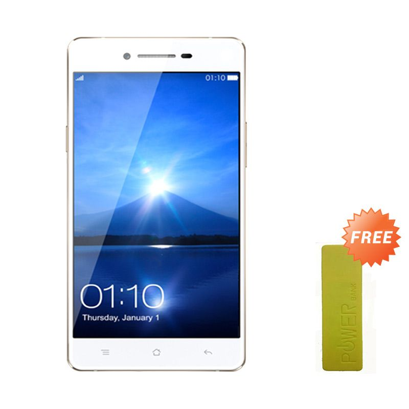 OPPO Mirror 5 Smartphone - White + Powerbank 35000 mAh