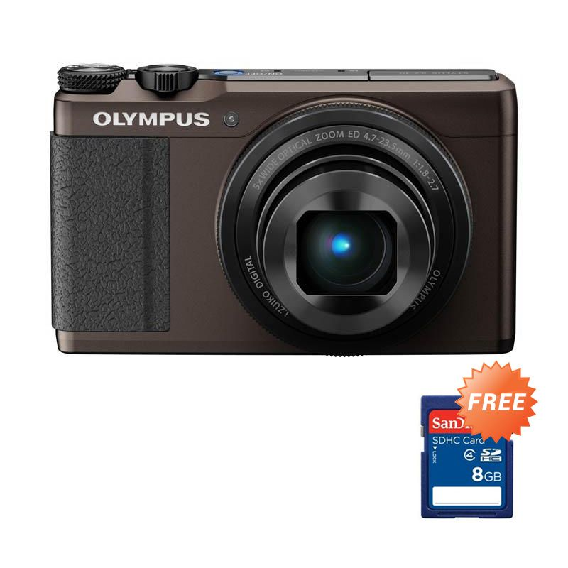 Olympus Stylus XZ-10 Coklat Kamera Pocket + Memory Card 8 GB
