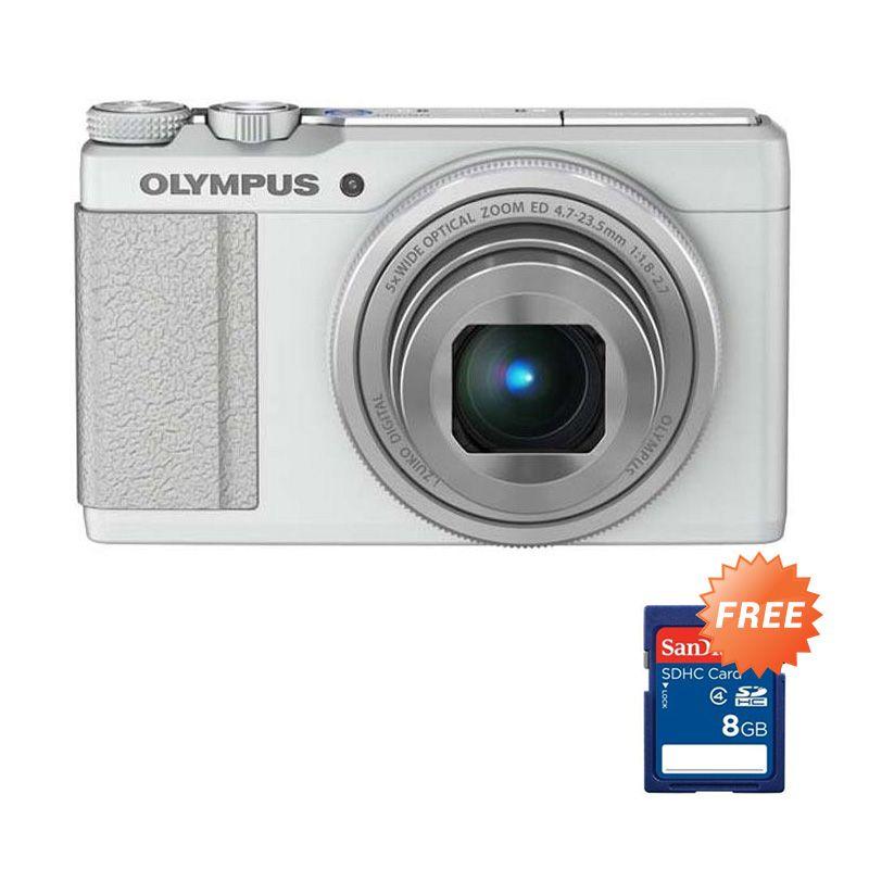 Olympus Stylus XZ-10 Putih Kamera Pocket + Memory Card 8 GB