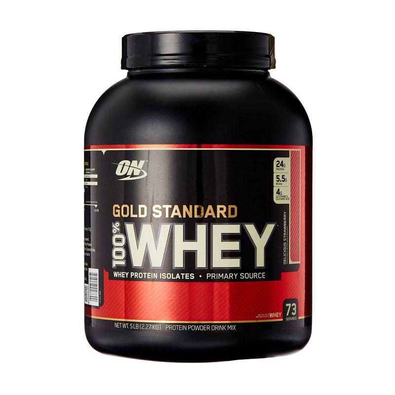 Jual Optimum Nutrition Gold Standard Whey Protein Strawberry Protein & Nutrisi [5 lbs] Terbaru - Harga Promo Juli 2019   Blibli.com