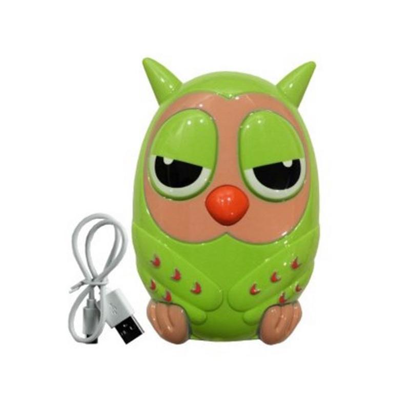 Optimuz Owl Burung Hantu Power Bank - Hijau [12000 mAh]