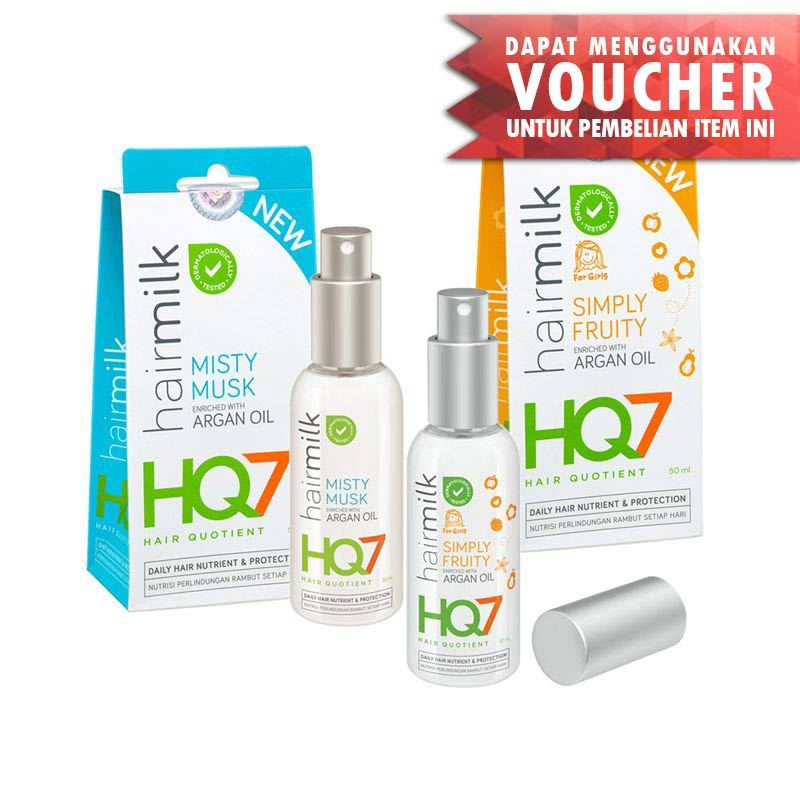 HQ7 Hairmilk Misty Musk & Simply Fruity Serum Rambut