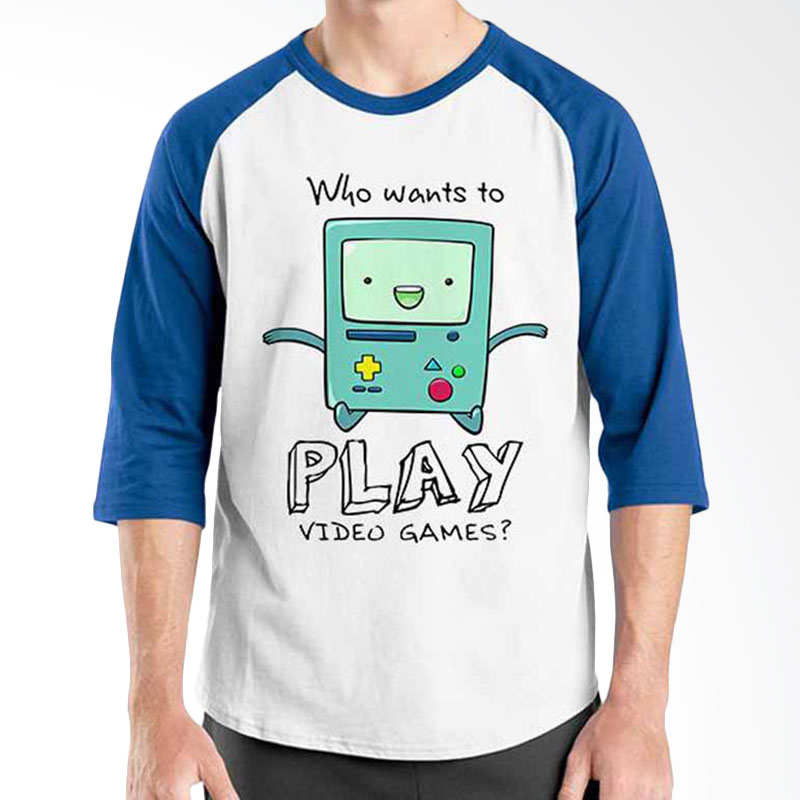 Ordinal Adventure Time Series BMO Play Raglan