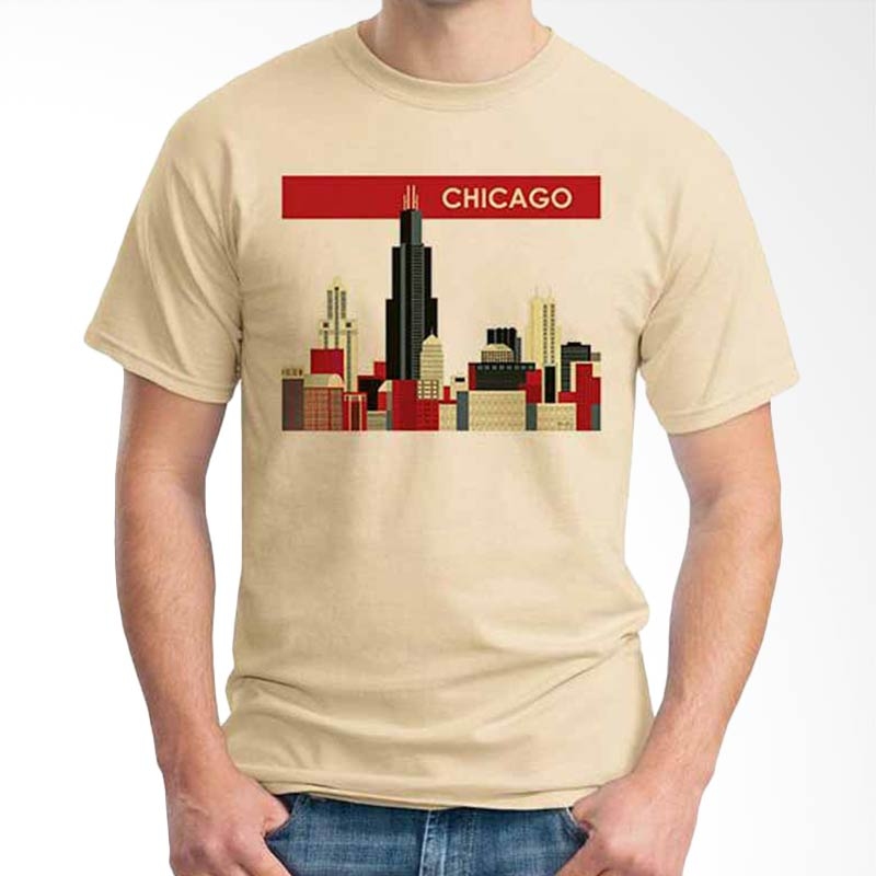 Ordinal Best City Edition Chicago 01 Kaos Pria