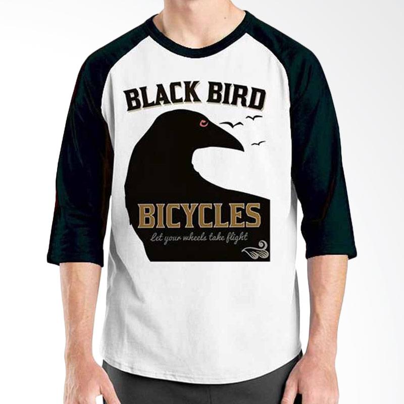 Ordinal Bicycle Series Black Bird Bicycle Raglan
