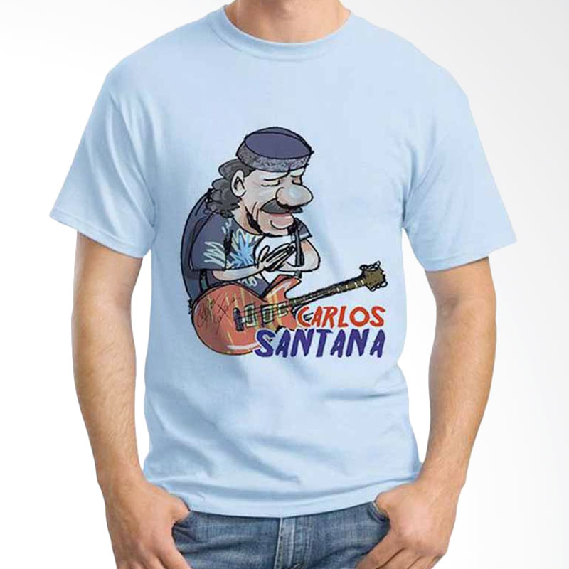 Ordinal Cartoon Musician Carlos Santana T-shirt