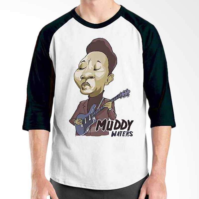 Ordinal Cartoon Musician Edition Muddy Waters Raglan
