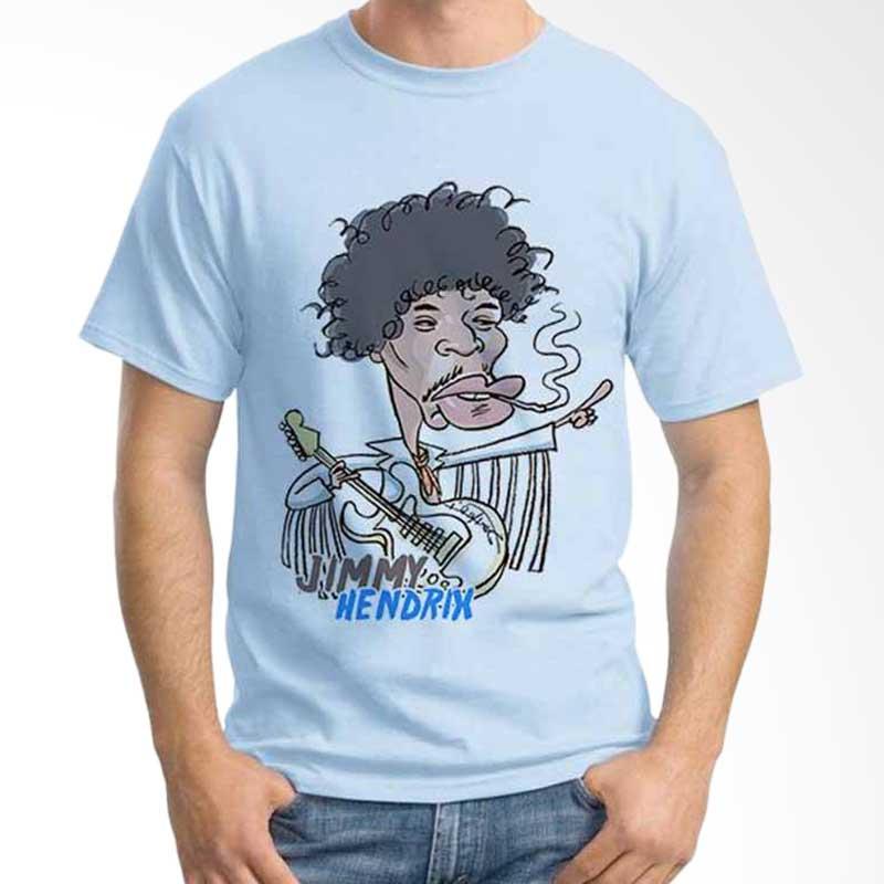 Ordinal Cartoon Musician Jimmy Hendrix T-shirt