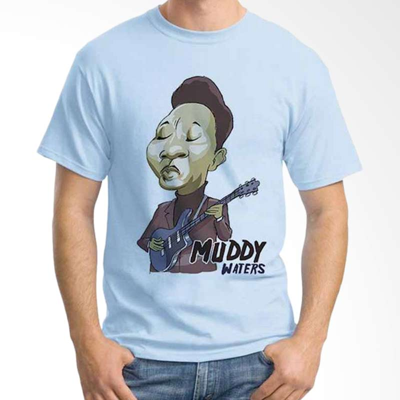 Ordinal Cartoon Musician Muddy Waters T-shirt